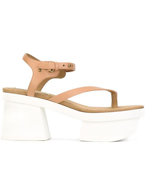 Stella Mccartney Altea Faux-leather Platform Sandal, Powder Rose In Nude