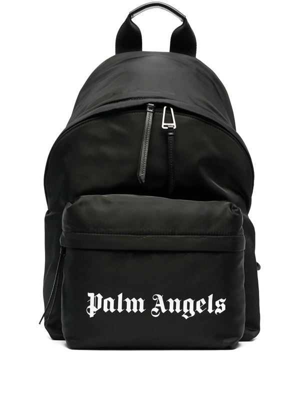 Palm Angels Small Logo Print Backpack In Black