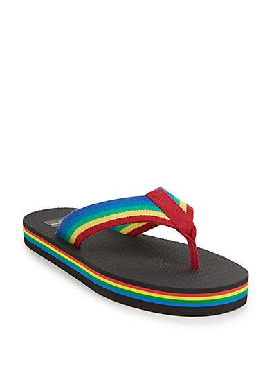 4820eb2bea Saint Laurent Nu Pieds Rainbow Flip Flop In Multicolor DÉGradÉ ...