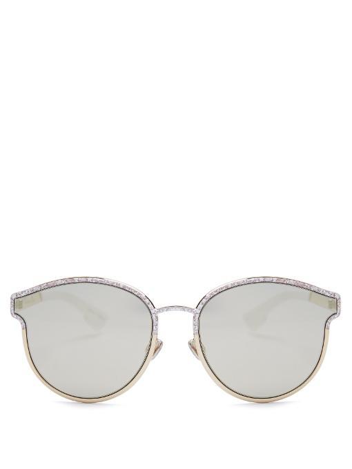2b70a2e814 Dior Symmetric Mirrored Sunglasses In Gold-Tone