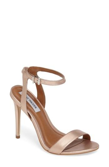 faefeee46a4 Steve Madden Landen Ankle Strap Sandal In Rose Gold