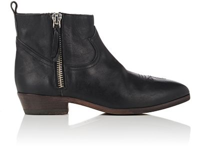 Golden Goose Arlene Leather Ankle Boots In Black Leather