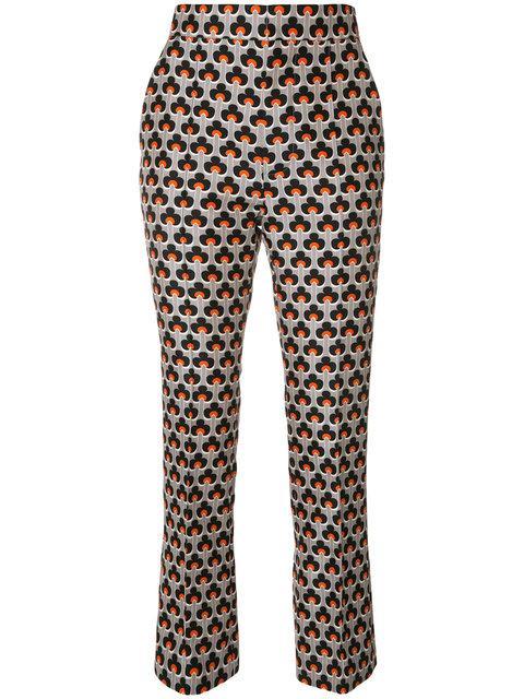 Marni Portrait Print Trousers In Cementarancio