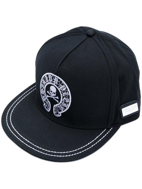 "Philipp Plein Baseball Cap ""bonifay"" In Black"