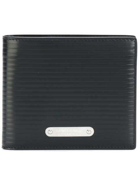 Saint Laurent Embossed Billfold Wallet - Black