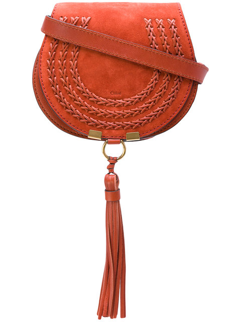 ChloÉ Red Suede Small Marcie Bag