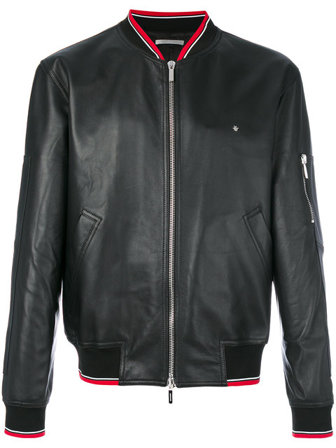 Dior Homme Striped Detail Bomber Jacket