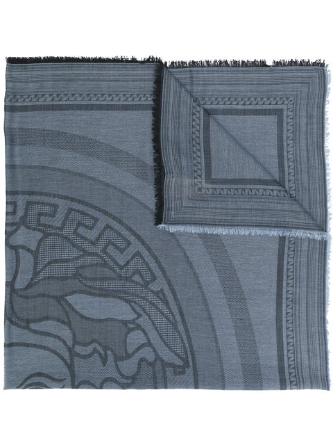 Versace Medusa Logo Shawl - Blue