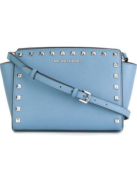 bb49b4487e8b Michael Michael Kors Selma Stud Medium Top-Zip Messenger Bag