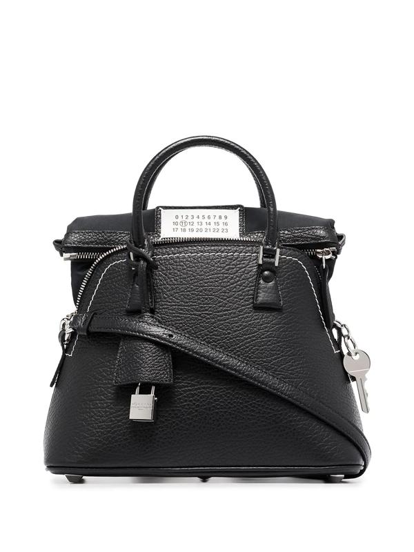 Maison Margiela Black 5ac Leather Tote Bag