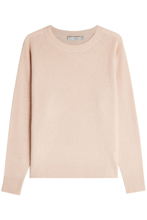 Vince Cashmere And Linen Pullover In Pink