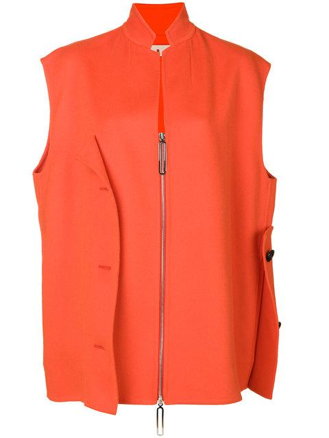 Marni Asymmetric Gilet Jacket In Red