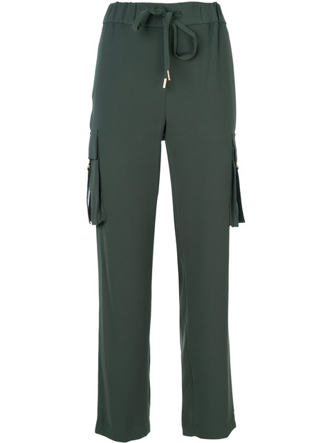 Michael Michael Kors Loose Fit Cargo Trousers - Grey