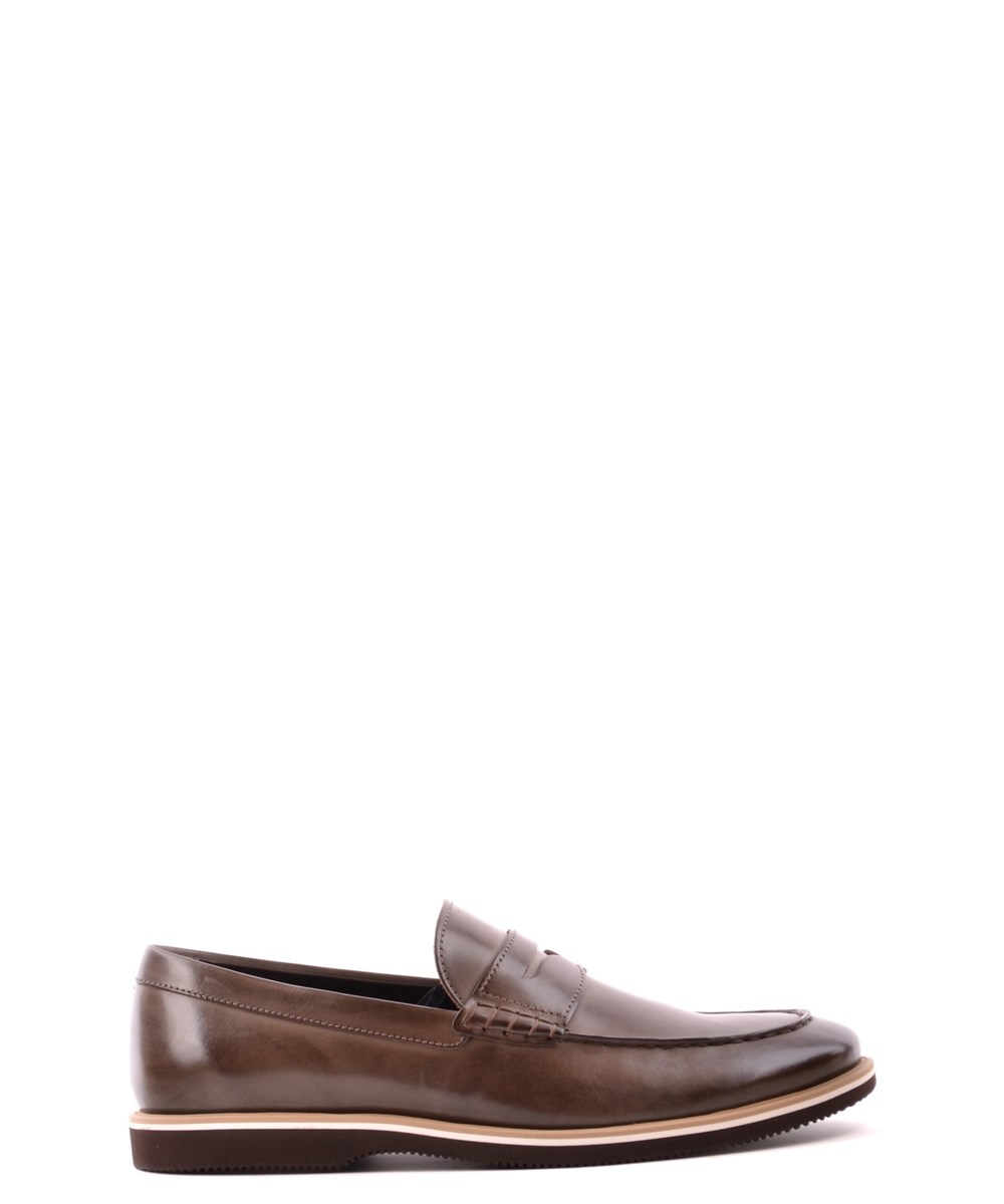 Hogan Men's  Brown Leather Loafers