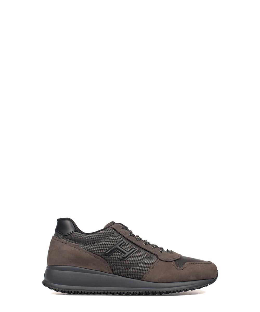 Hogan Men's  Brown Leather Sneakers