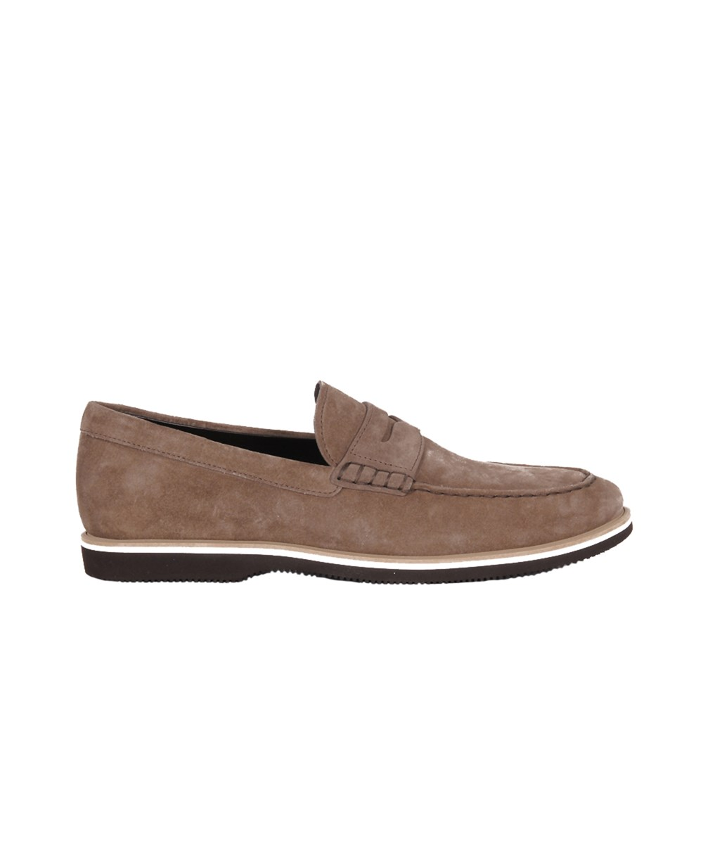 Hogan Men's  Brown Suede Loafers