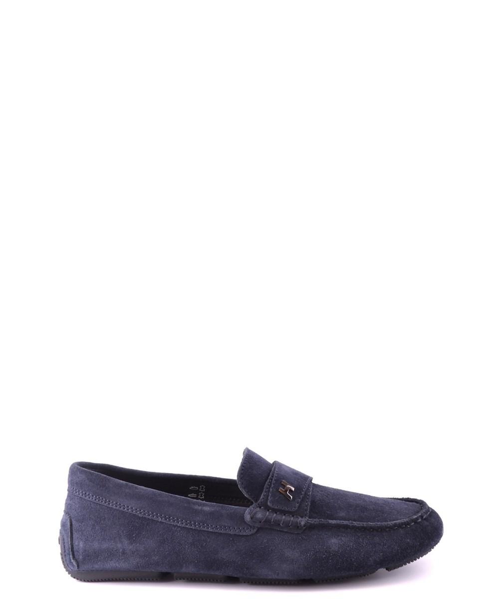 Hogan Men's  Blue Suede Loafers