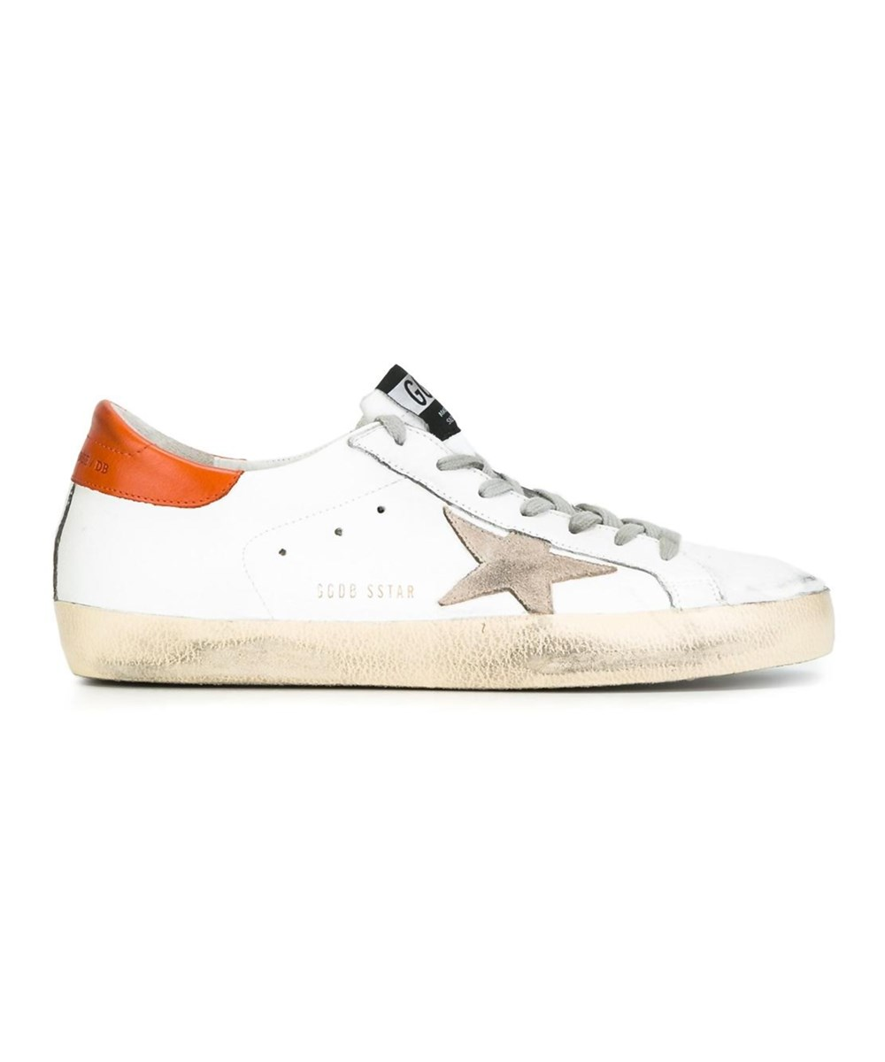 Golden Goose Men's  White Leather Sneakers