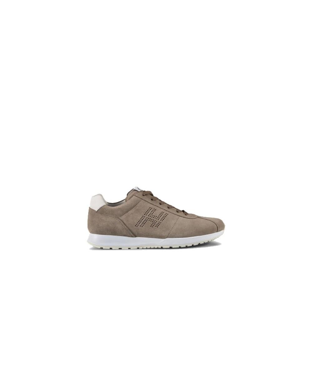 Hogan Men's  White/brown Suede Sneakers