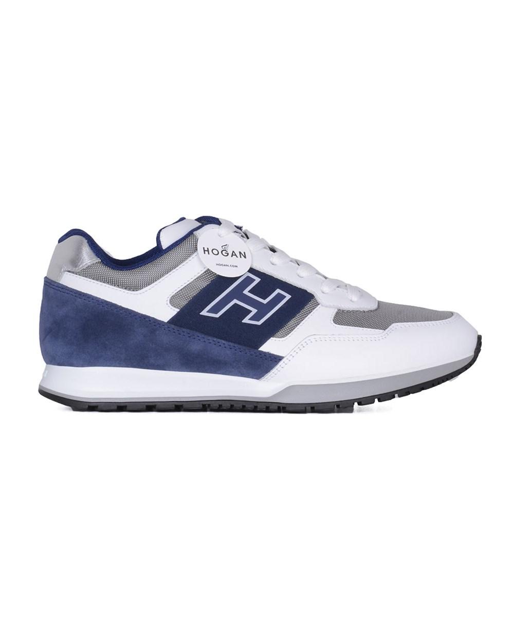 Hogan Men's  White/blue Leather Sneakers