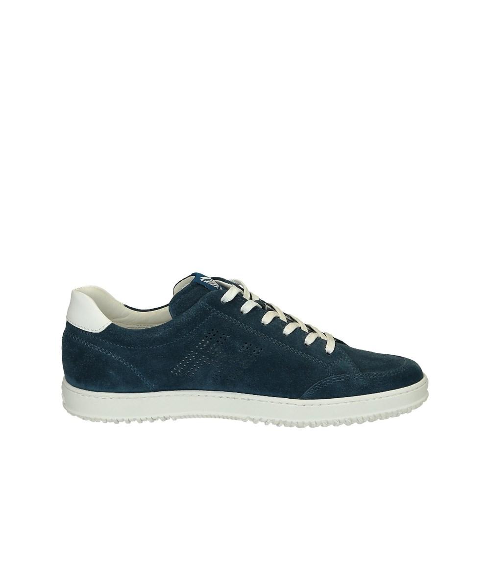 Hogan Men's  Blue Suede Sneakers