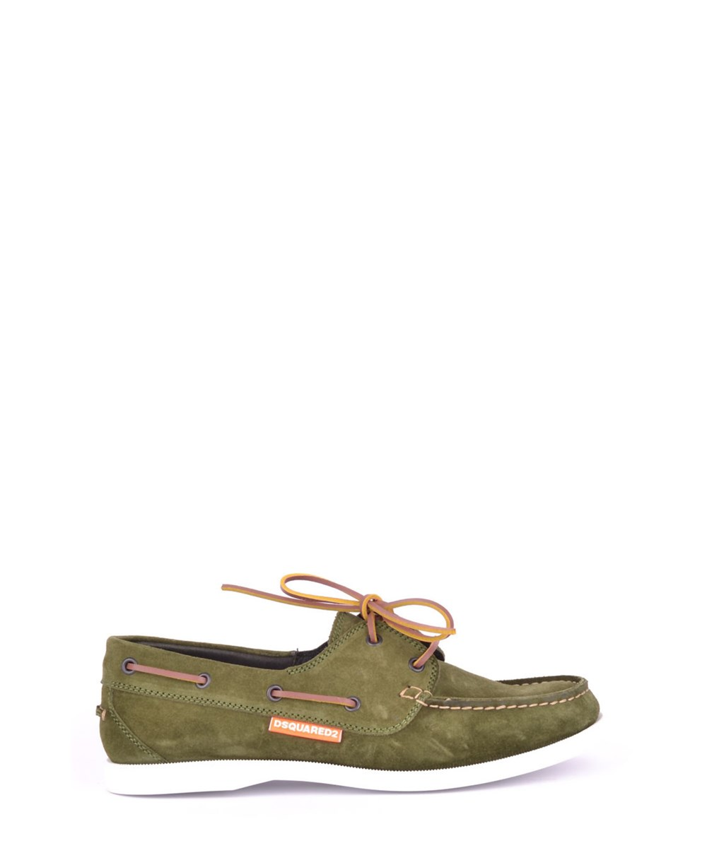 Dsquared2 Men's  Green Suede Lace-up Shoes