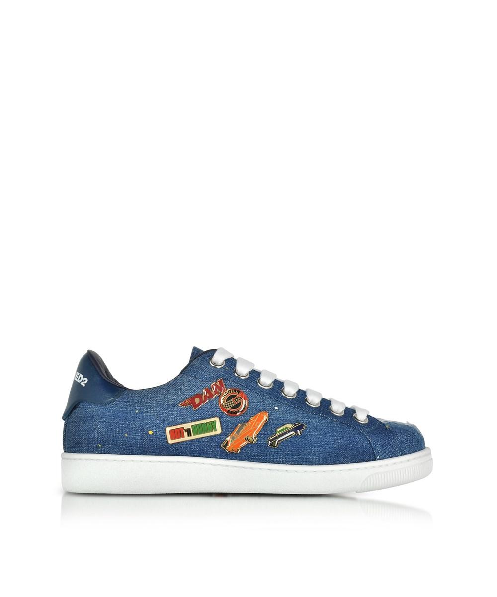 Dsquared2 Men's  Blue Denim Sneakers