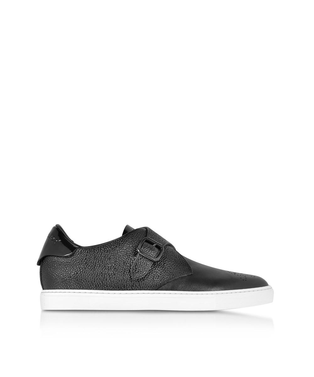 Dsquared2 Men's  Black Leather Monk Strap Shoes