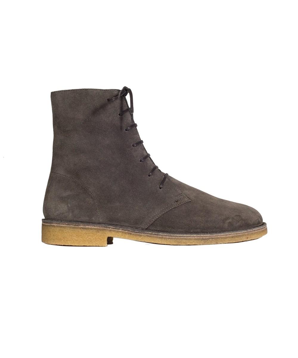 Saint Laurent Men's  Grey Suede Ankle Boots