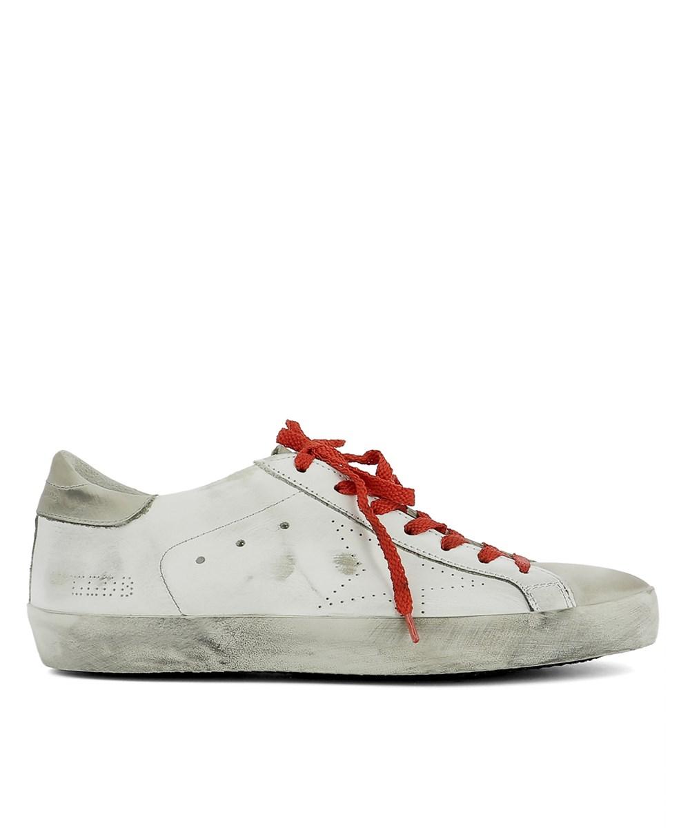 Golden Goose Men's  White Leather Sneakers
