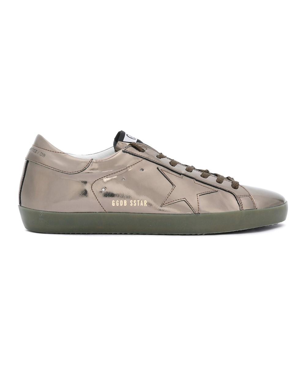 Golden Goose Men's  Grey Leather Sneakers