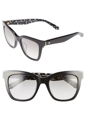 Kate Spade Emmylou 51mm Sunglasses - Black/ Cream/ Transparent