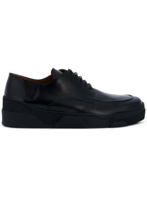 Givenchy Tyson Raised-sole Leather Derby Shoes In Black
