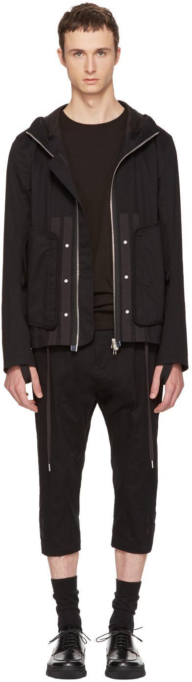 Helmut Lang Zip-up Hooded Jacket In Black