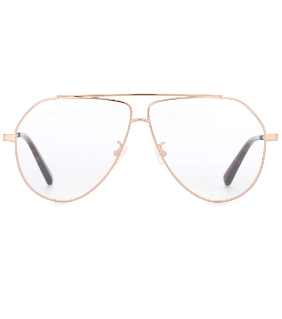 Stella Mccartney Aviator-style Gold-tone Optical Glasses