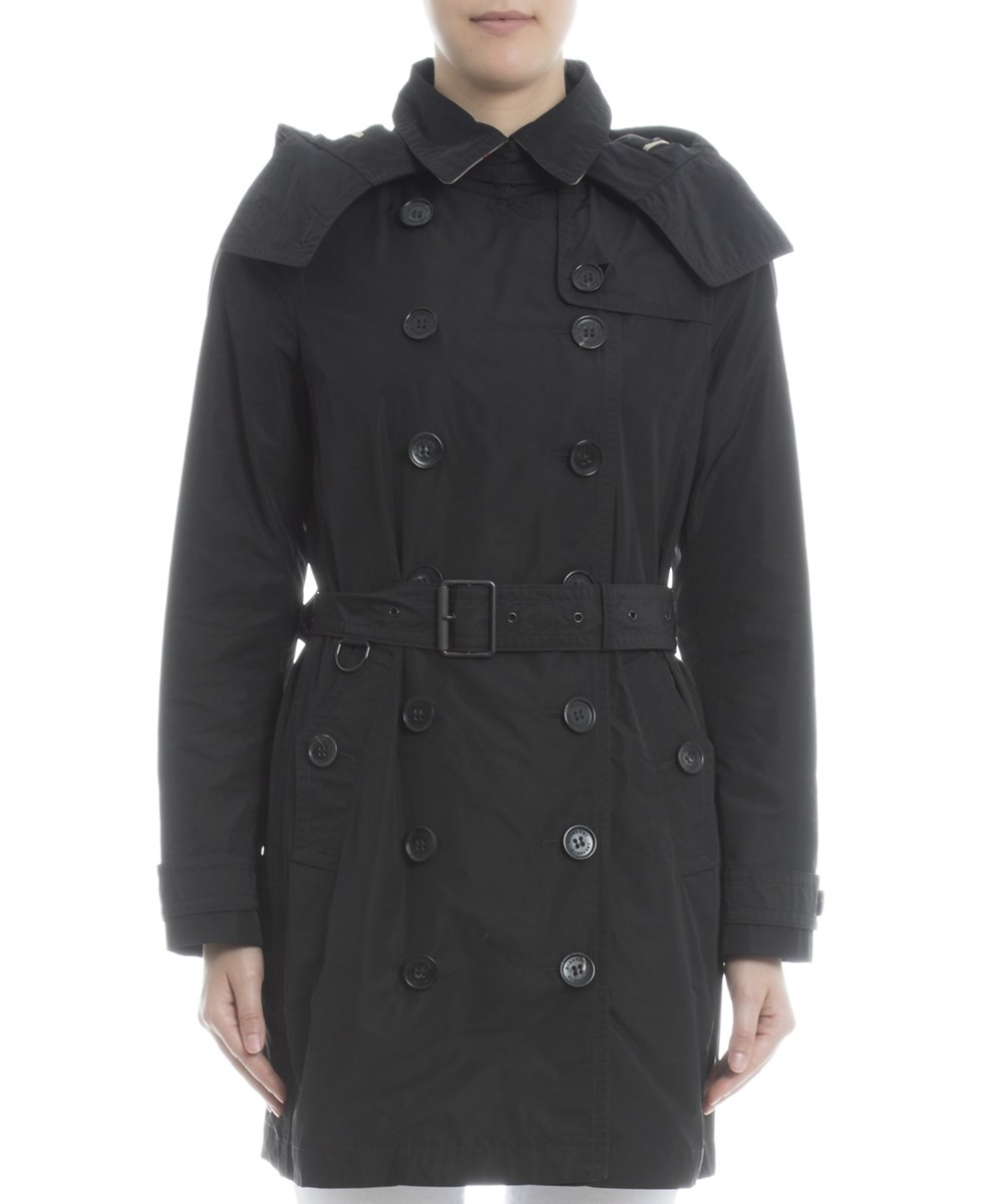 Burberry Women's  Black Polyester Trench Coat'