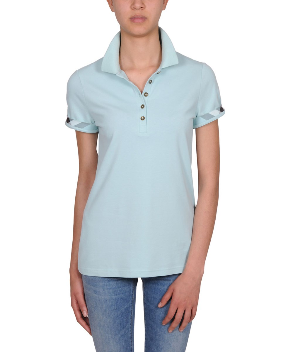 Burberry Women's  Green Cotton Polo Shirt