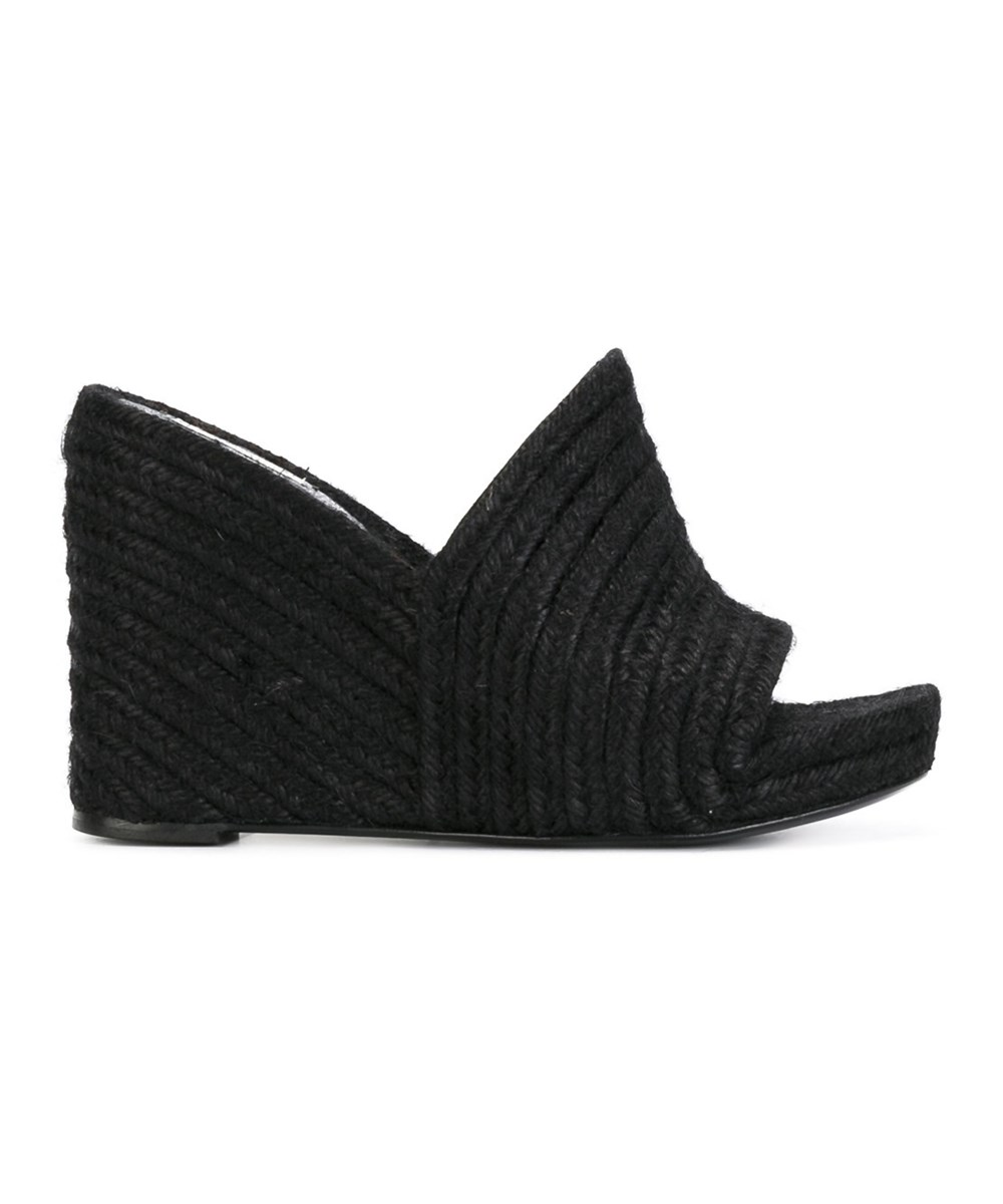 Balenciaga Women's  Black Jute Wedges'