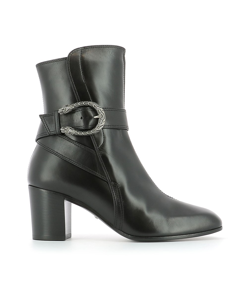 Gucci Women's  Black Leather Ankle Boots