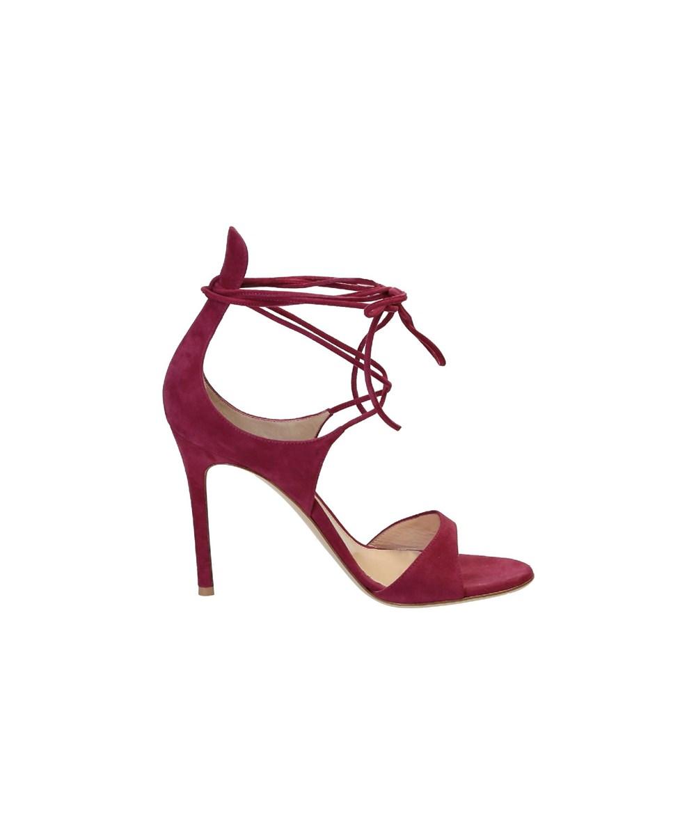 Gianvito Rossi Women's  Fuchsia Suede Sandals In Pink