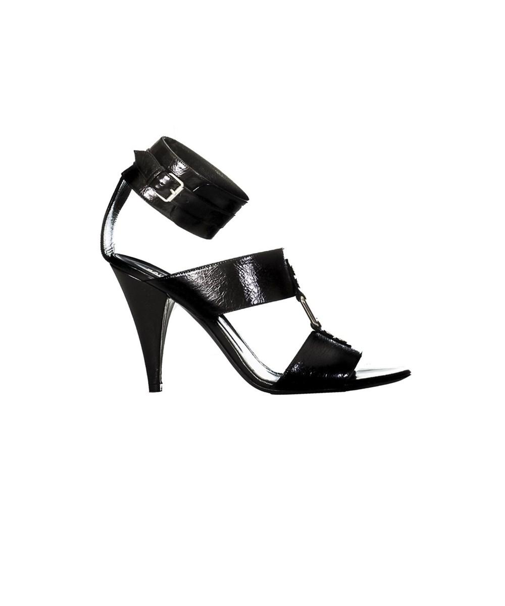 Saint Laurent Women's  Black Leather Sandals