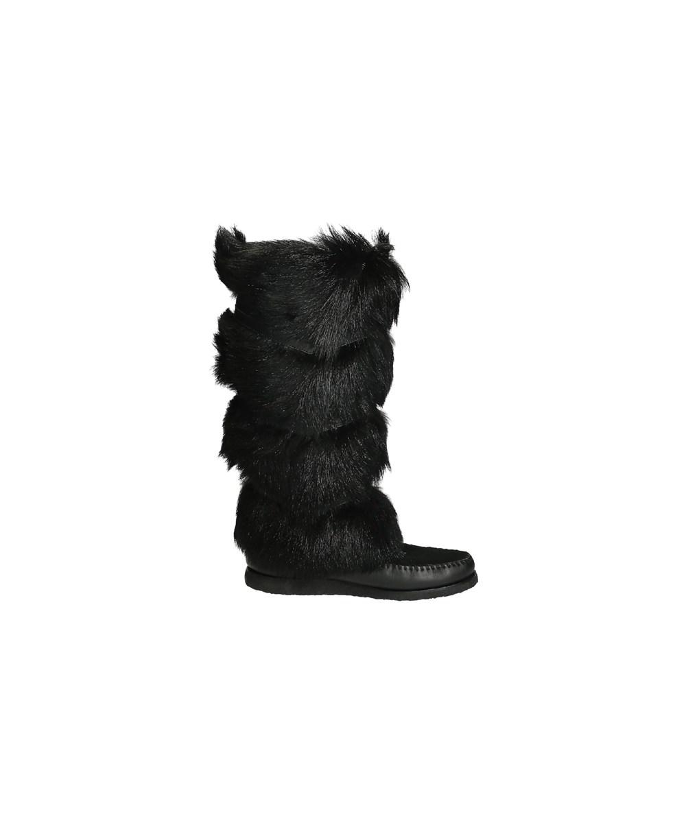 Saint Laurent Women's  Black Hair Boots