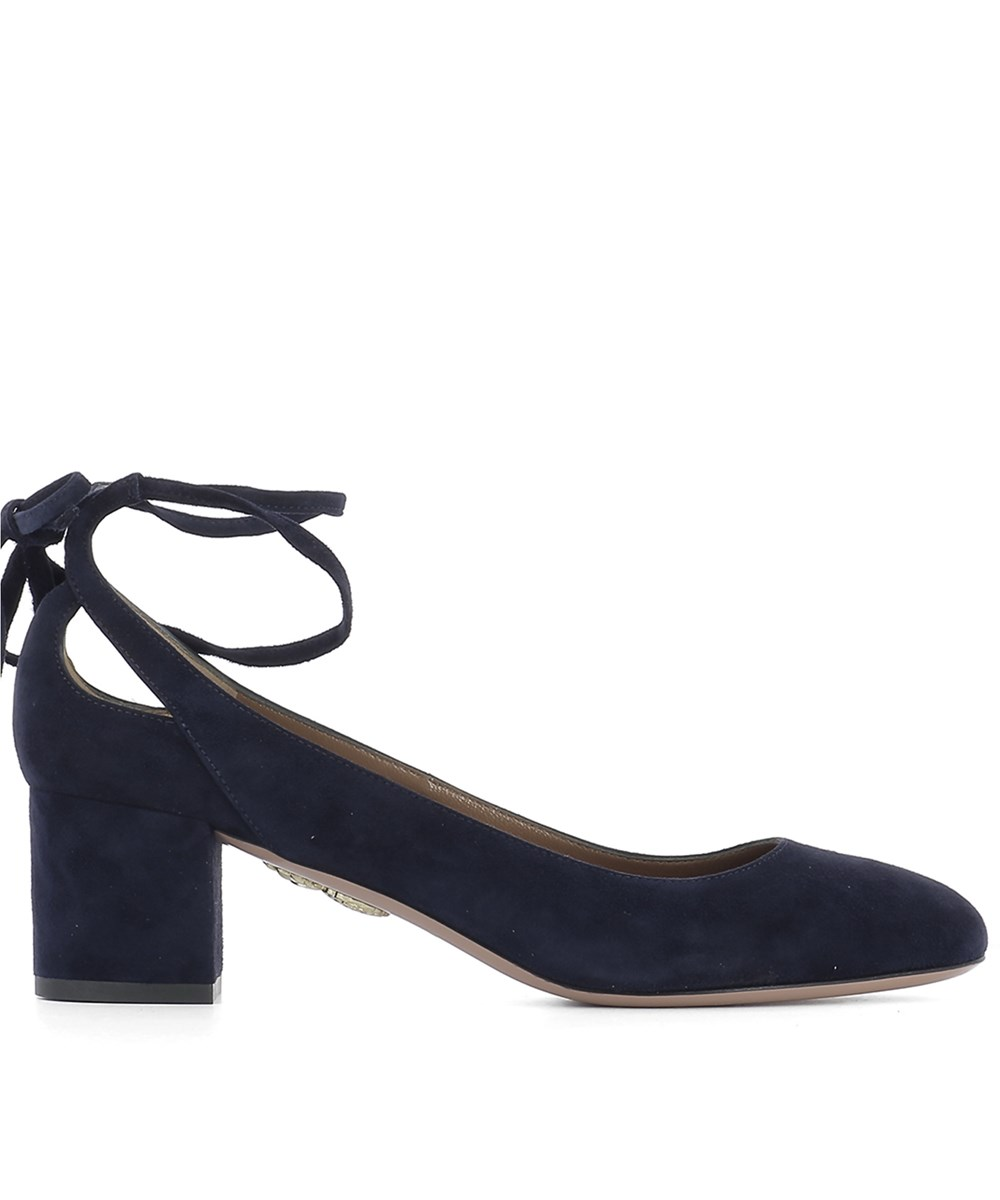 Aquazzura Women's  Blue Suede Pumps