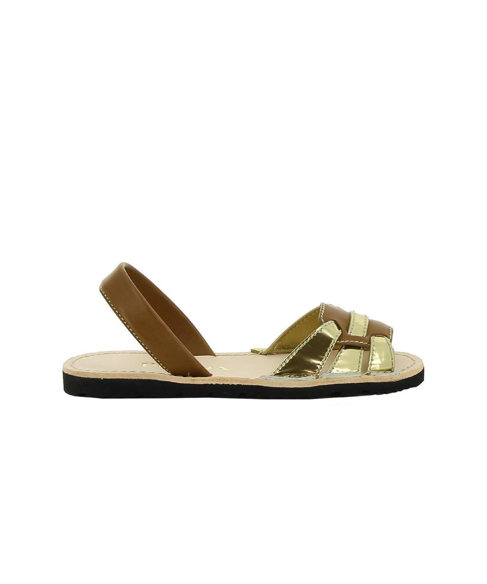 Prada Women's  Brown/gold Leather Sandals
