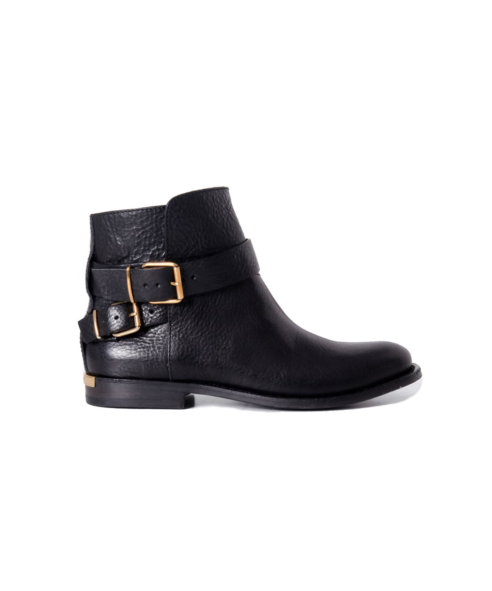 Burberry Women's  Black Leather Ankle Boots