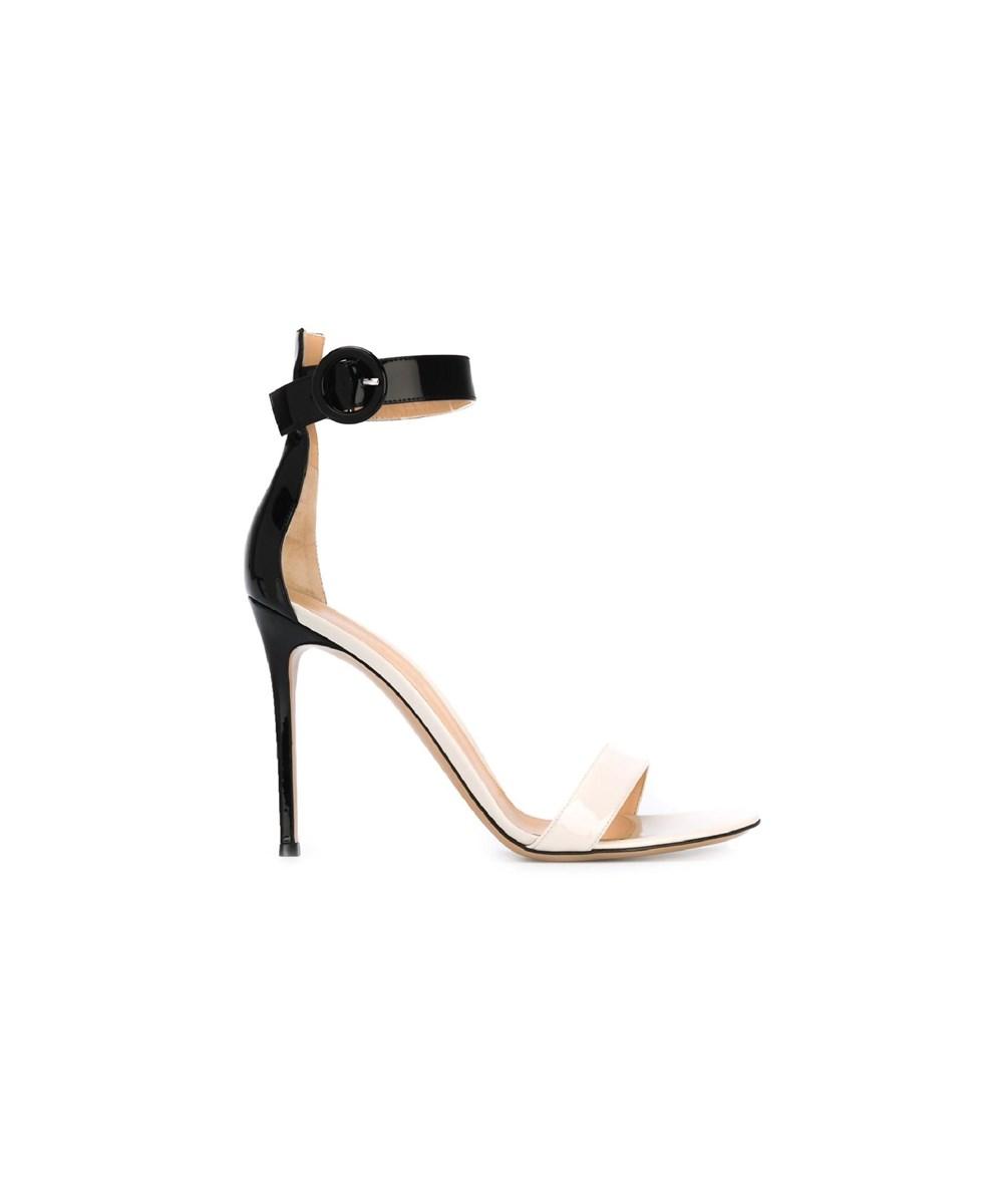 Gianvito Rossi Women's  Black/gold Leather Sandals
