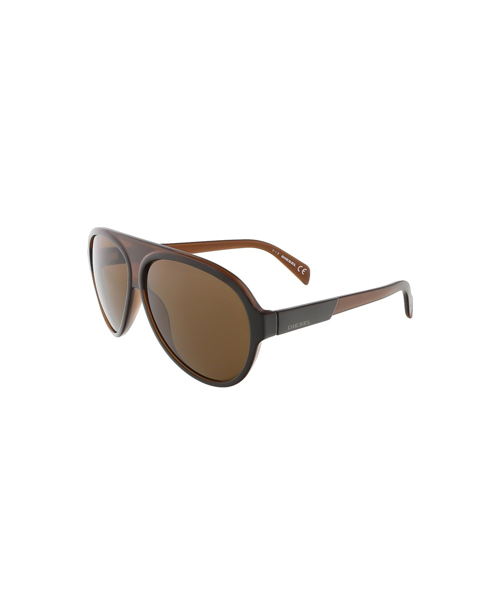 Diesel Dl0138/s 50e Brown Teardrop Aviator Sunglasses