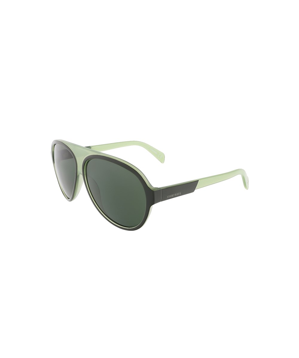 Diesel Dl0138/s 98n Moss Green Teardrop Aviator Sunglasses
