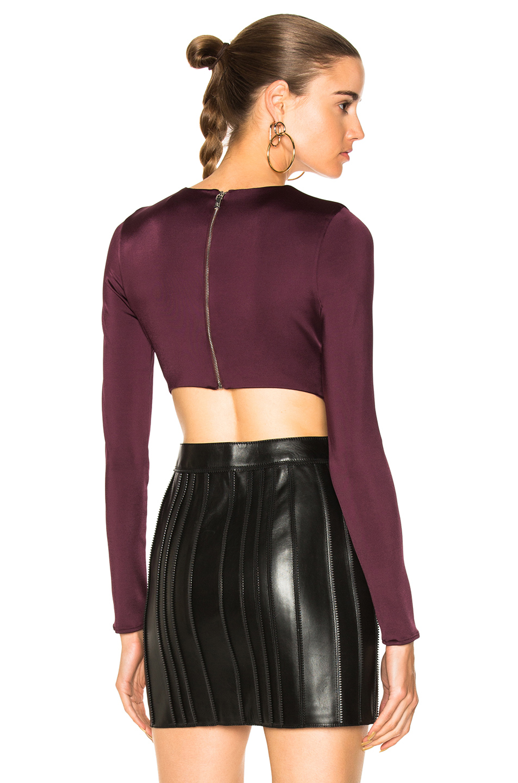 Cushnie Et Ochs Long Sleeved Bodysuit In Purple