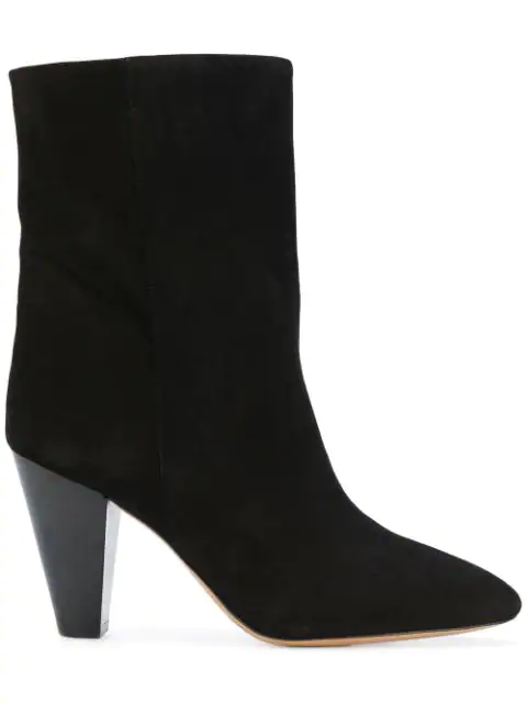 Isabel Marant Darilay Suede Ankle Boots In Llack
